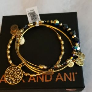 Alex and Ani Let it Snow set Swarovski crystal nwt